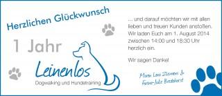 Wir feiern 1 Jahr Leinenlos Hamburg